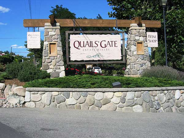 Quail's Gate - Image Credit: http://en.wikipedia.org/wiki/File:Quails_Gate_Winery.jpg
