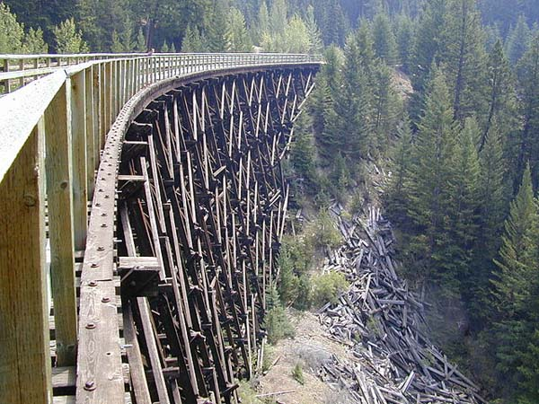 Kettle Valley Railway - Image Credit: http://en.wikipedia.org/wiki/File:Myra_Canyon_Section_of_the_Kettle_Valley_Railway_August_2003.jpg